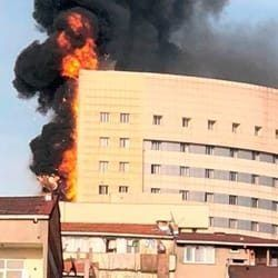 Complete evacuation of Hospital Istanbul