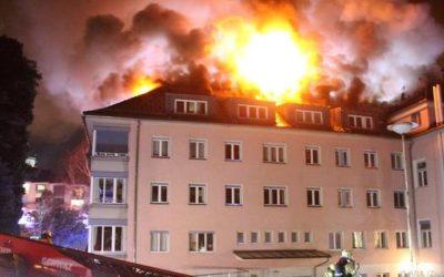 7 Verletzte bei Brand in Altersheim