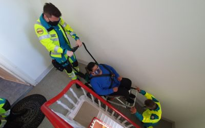 Brussels Ambulance uses Escape-Chair® VOLT